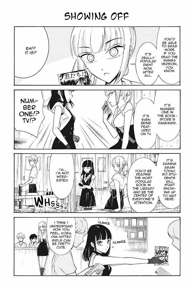 Kuzu to Megane to Bungakushojo 142: Showing Off at MangaFox
