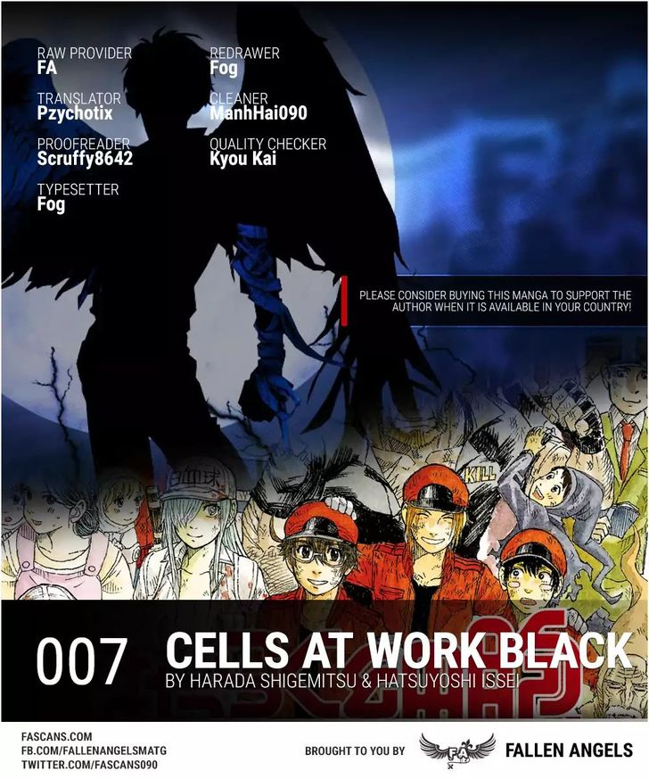 Hataraku Saibou BLACK 7: Stomach Ulcer, Friendship and Loss at MangaFox