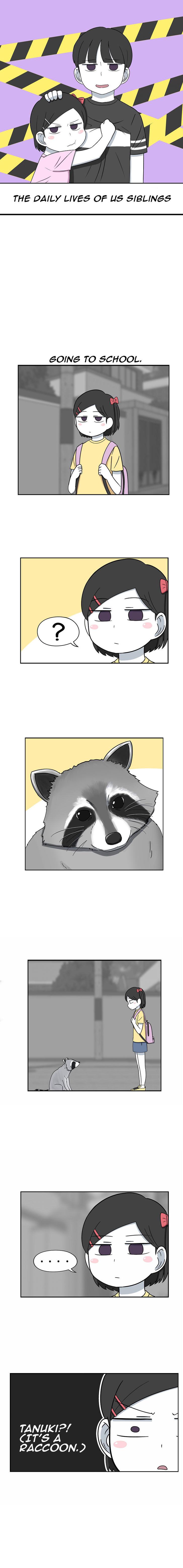 The Daily Lives of Us Siblings 30: Tanukis aren't Raccoons. at MangaFox