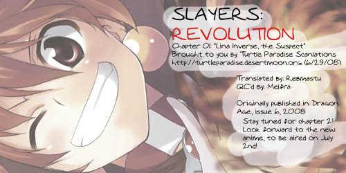Slayers Revolution 1: Lina Inverse, the Suspect at MangaFox