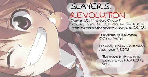 Slayers Revolution 2: Find That Critter! at MangaFox
