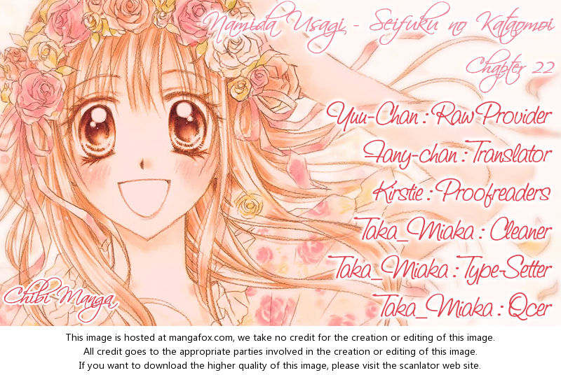 Namida Usagi - Seifuku no Kataomoi 22 at MangaFox