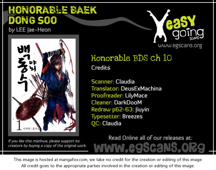 Honorable Baek Dong Soo 10: Sword of the Cloud at MangaFox.la